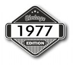 VIntage Edition 1977 Classic Retro Cafe Racer Design External Vinyl Car Motorcyle Sticker 85x70mm